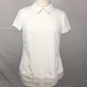 Ted Baker White Marnee Lace Embroidered Blouse